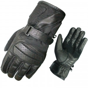 5192-Black-Airflow-Leather-Textile-Motorcycle-Glove-0