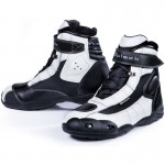 Black-FC-Tech-Short-Motorcycle-Boot-White-1