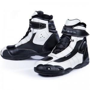 Black-FC-Tech-Short-Motorcycle-Boot-White-1
