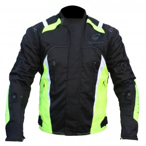 Black-Turbo-Textile-Motorcycle-Jacket-Fluro-2