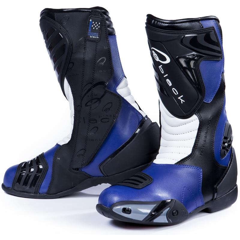 Black Zero Waterproof Motorcycle Boots