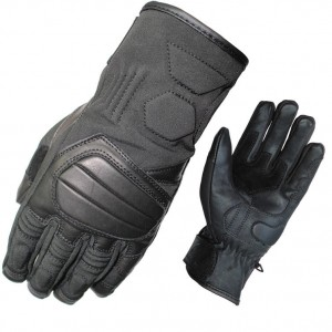 lrgscale5191-Black-Duo-Leather-Textile-Motorcycle-Glove-1